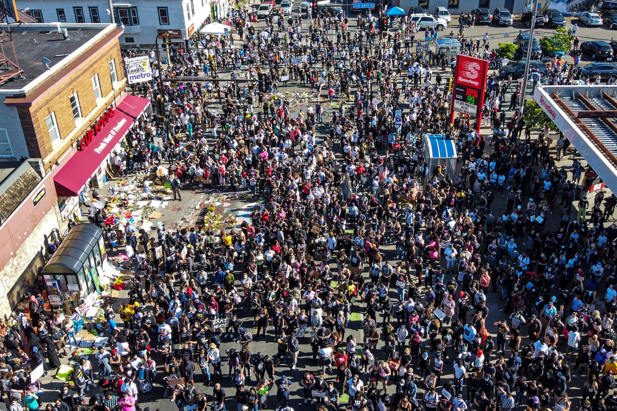 protests in American cities in the wake of the George Floyd murder