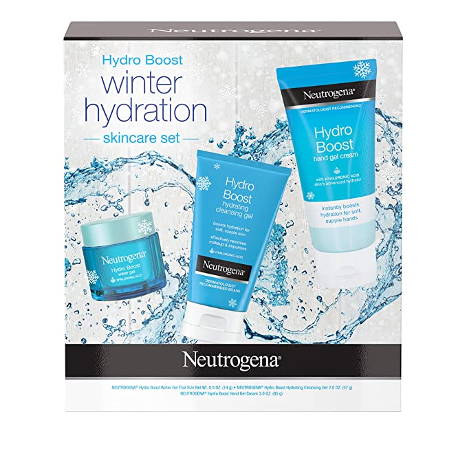 Neutrogena Hydro Boost Winter Gift Set With Hyaluronic Acid Gel Cream Moisturizer,