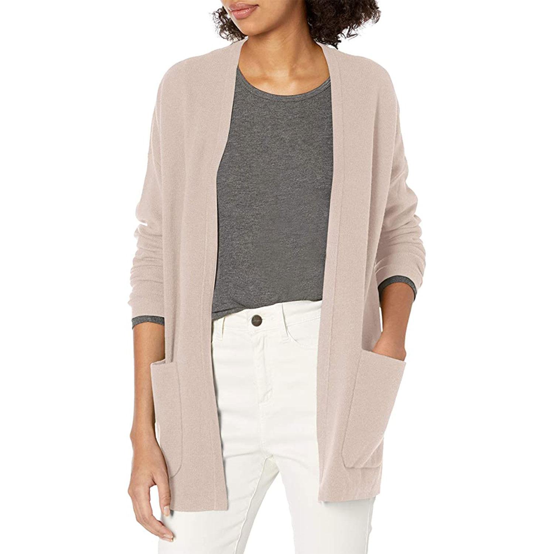 amazon brand daily ritual women's soft boyfriend cardigan sweater