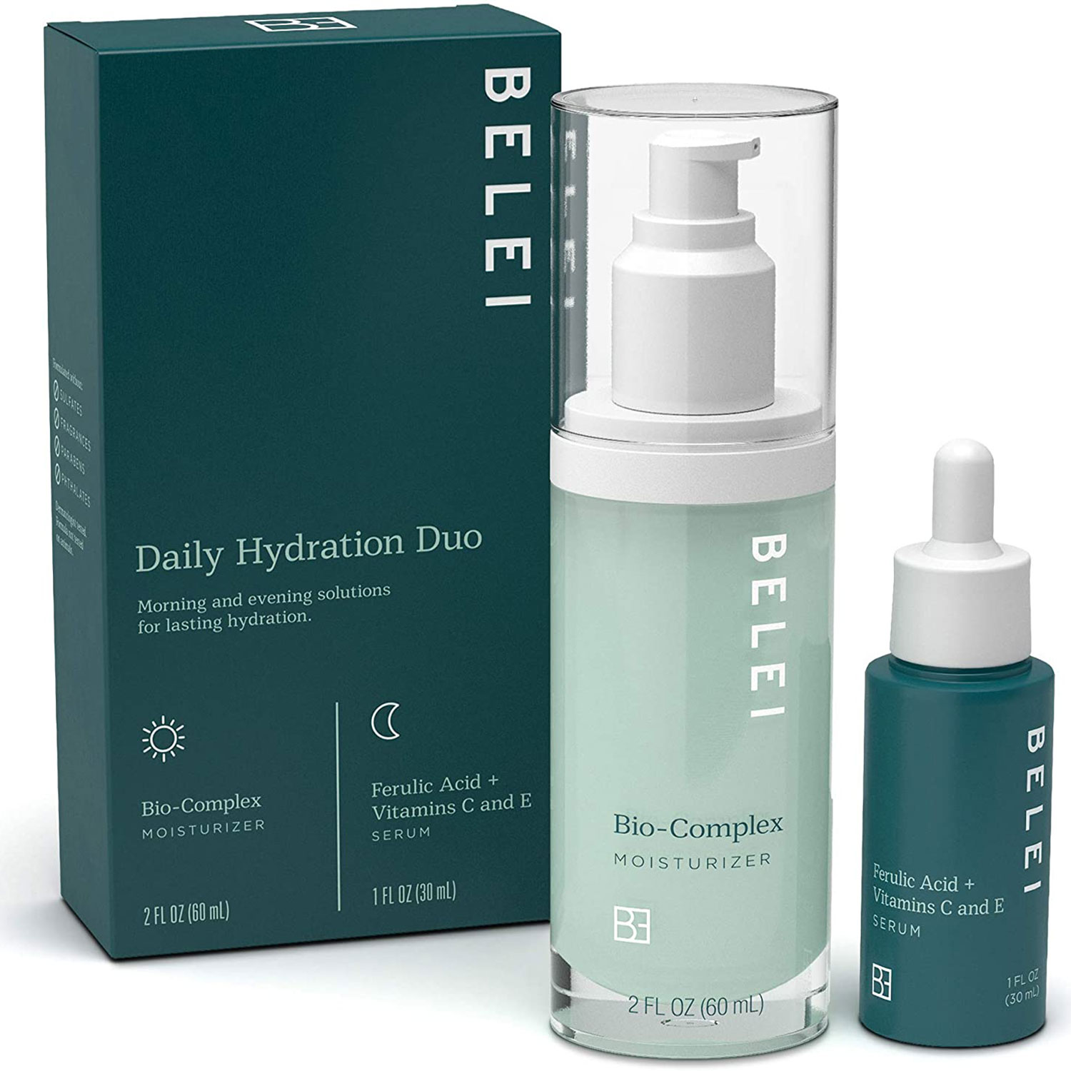 belei amazon daily hydrating duo skin care starter kit