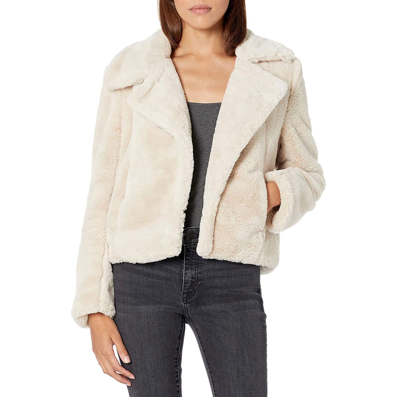 blanknyc women's faux fur jacket