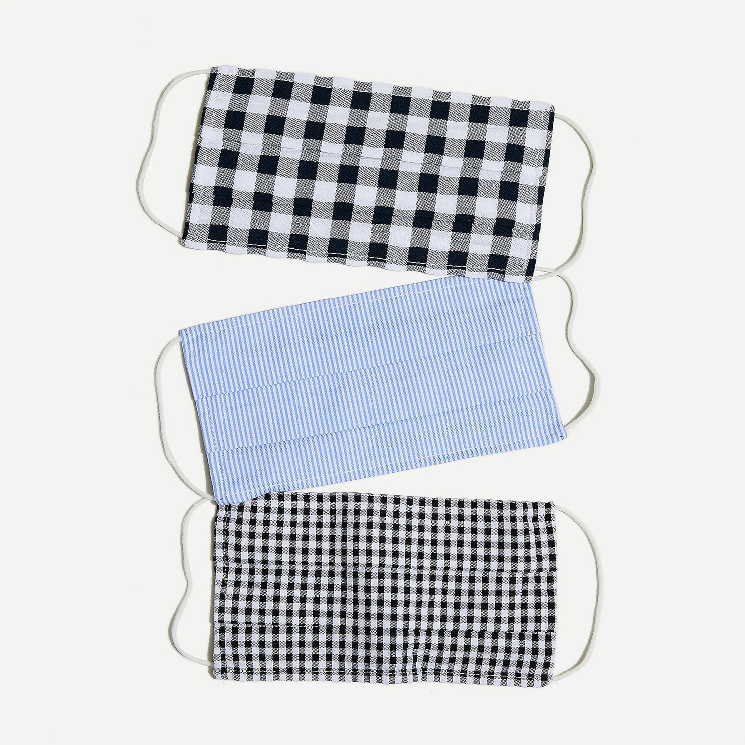 JCrew Pack of three nonmedical face masks in mixed prints