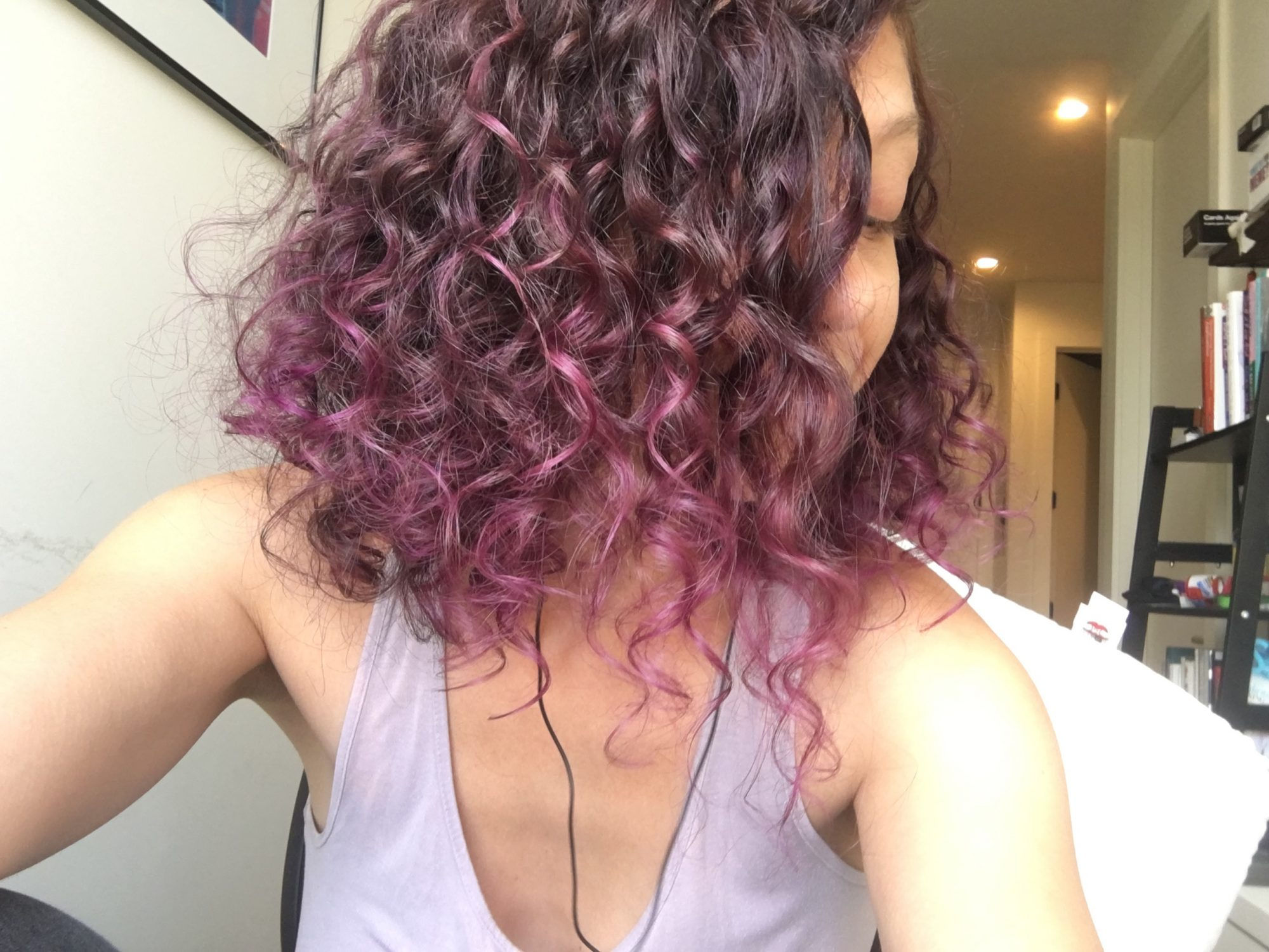 Writer Allie Strickler's hair after using John Frieda Frizz Ease Dream Curls Daily Styling Spray