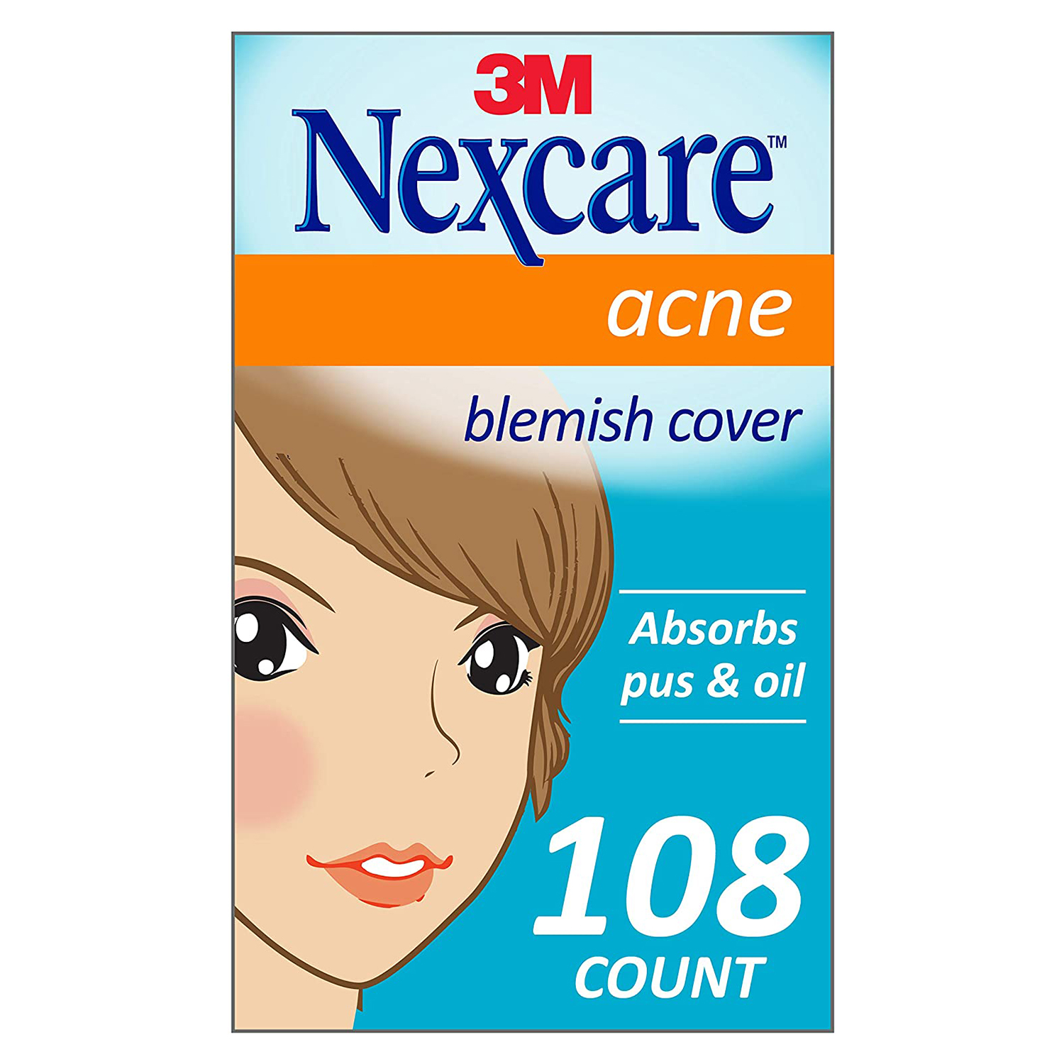 Nexcare Acne Cover, 108 Count, Invisible, Drug Free
