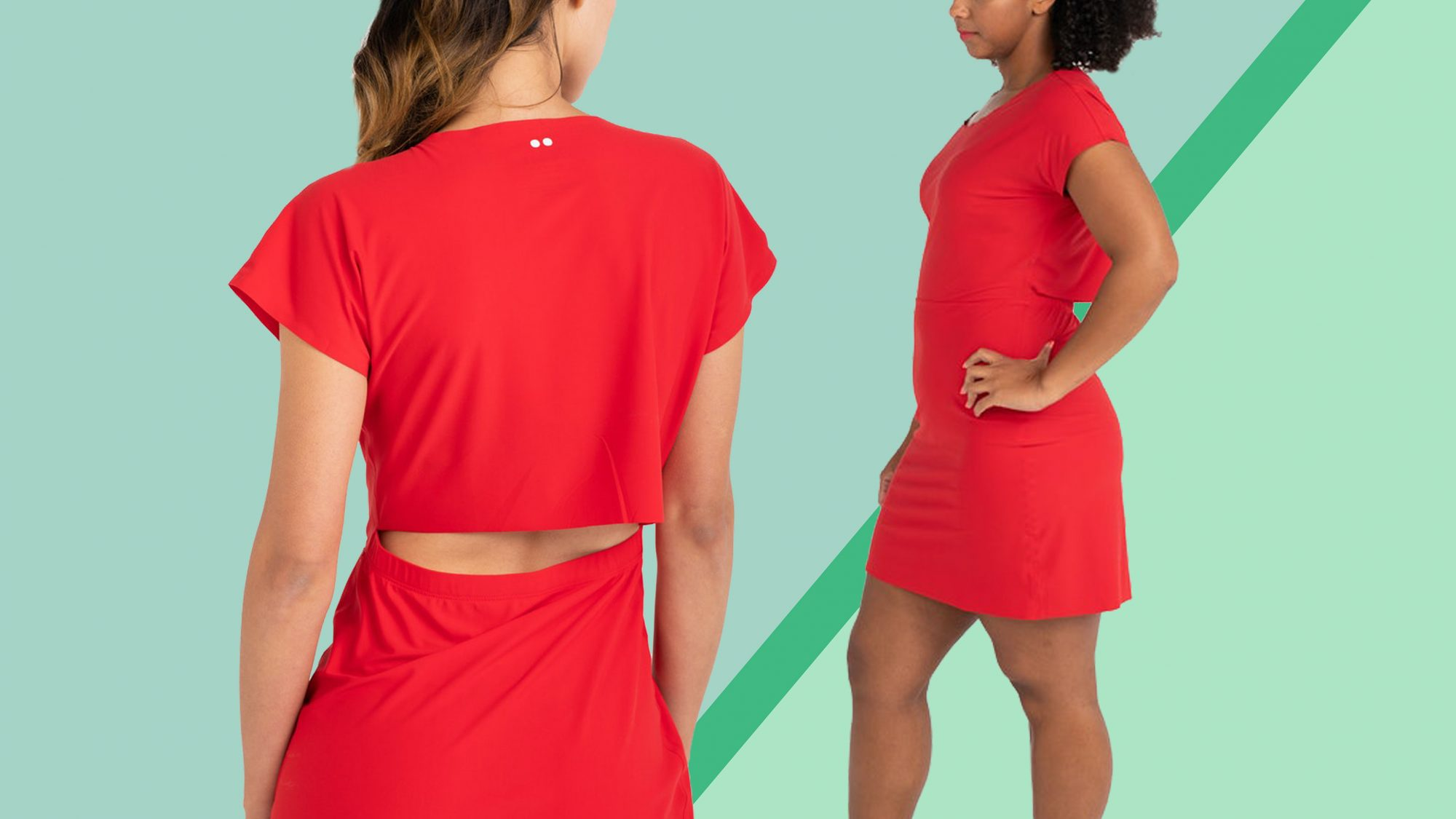 Rec Room Open Back Dress