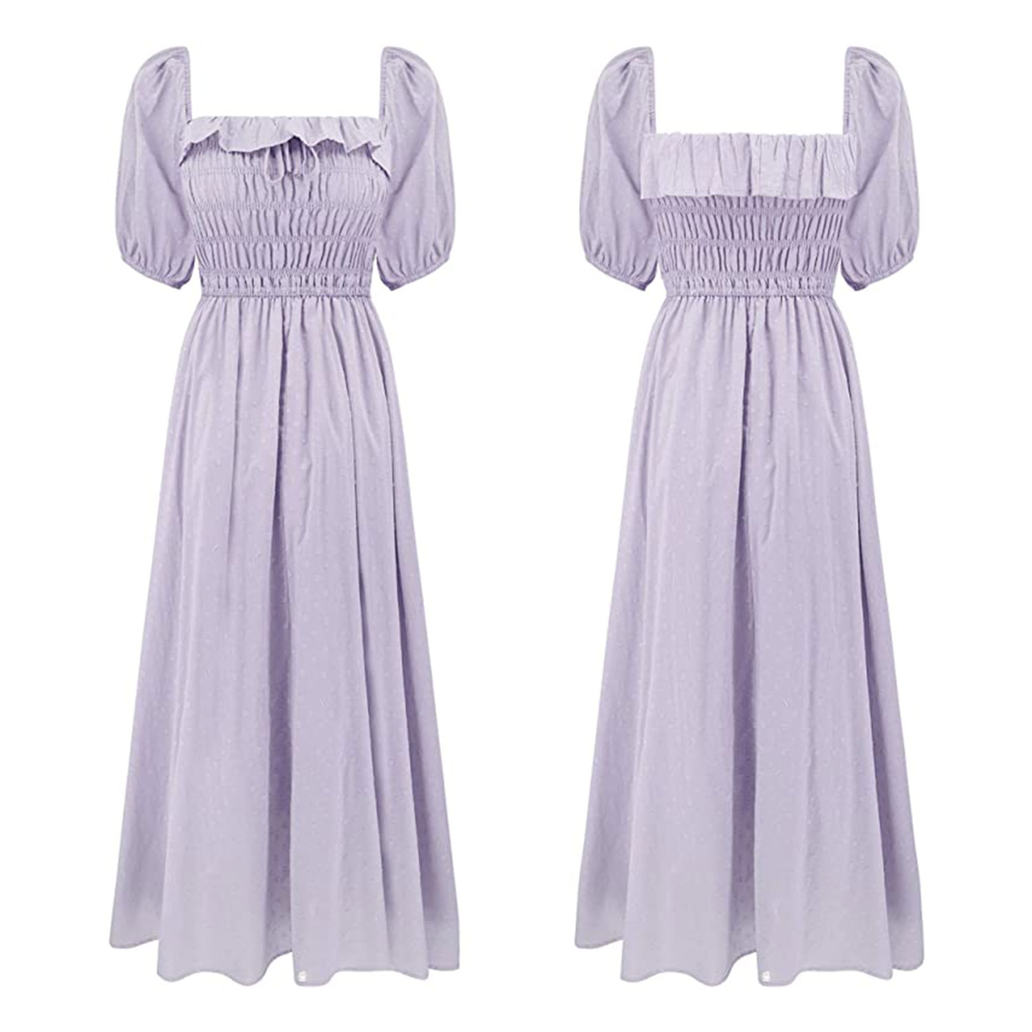 R.Vivimos Women Summer Half Sleeve Cotton Ruffled Vintage Elegant Backless A Line Flowy Long Dresses