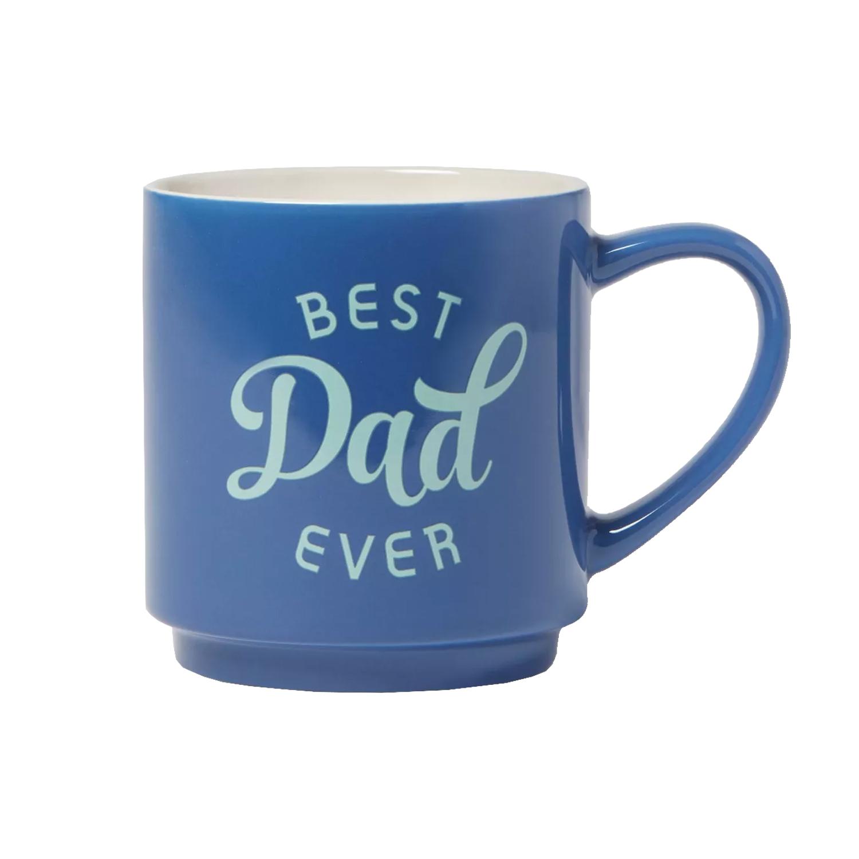 best dad ever blue mug
