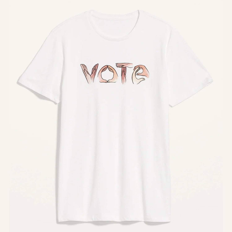 Vote Graphic Gender-Neutral Tee for Men & Women