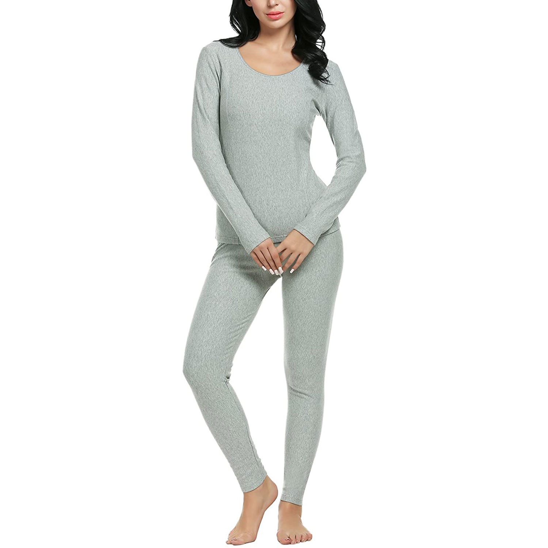 women's long thermal gray