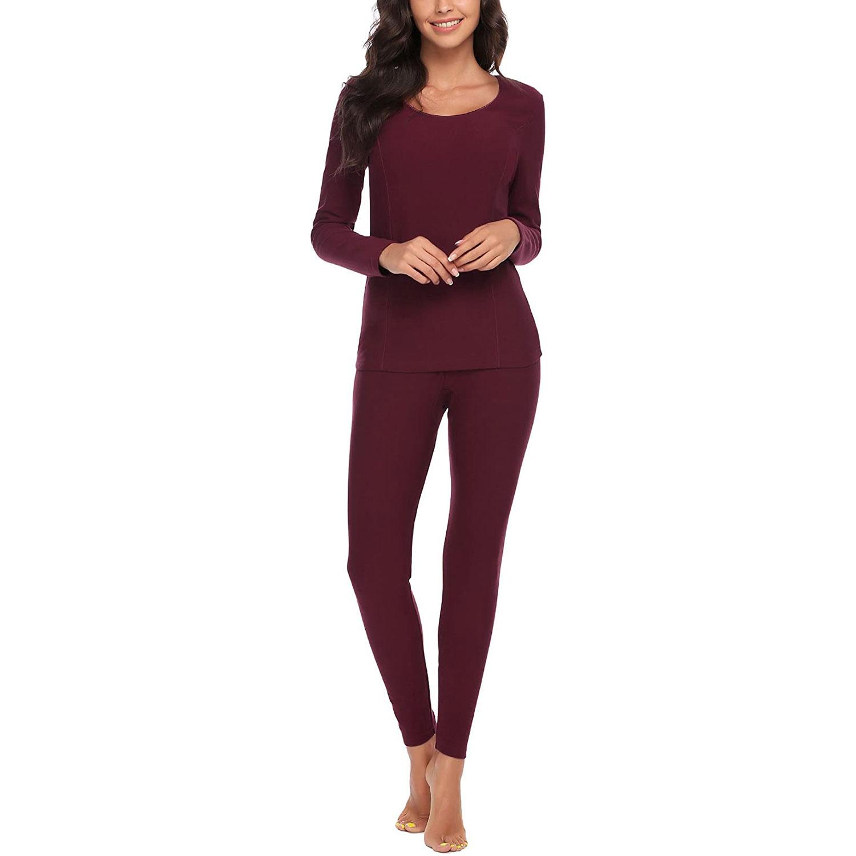 women's long thermal underwear, red
