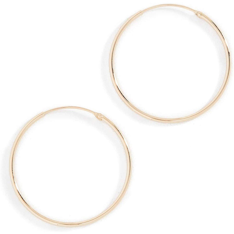 women's plain hoop earrings