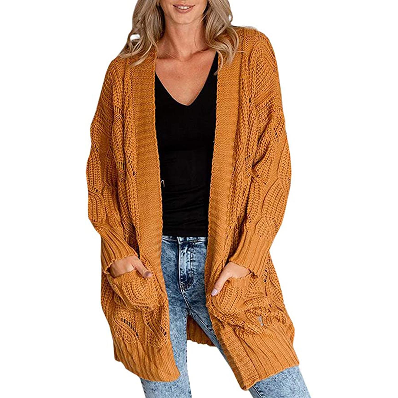 Yskkt Womens Boho Open Front Cardigans Sweaters Plus Size