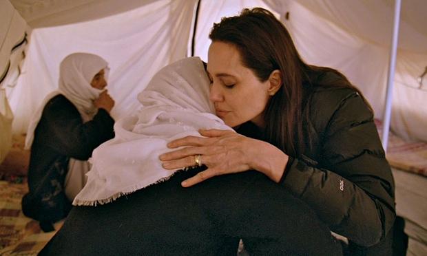 Angelina Jolie with Amusha