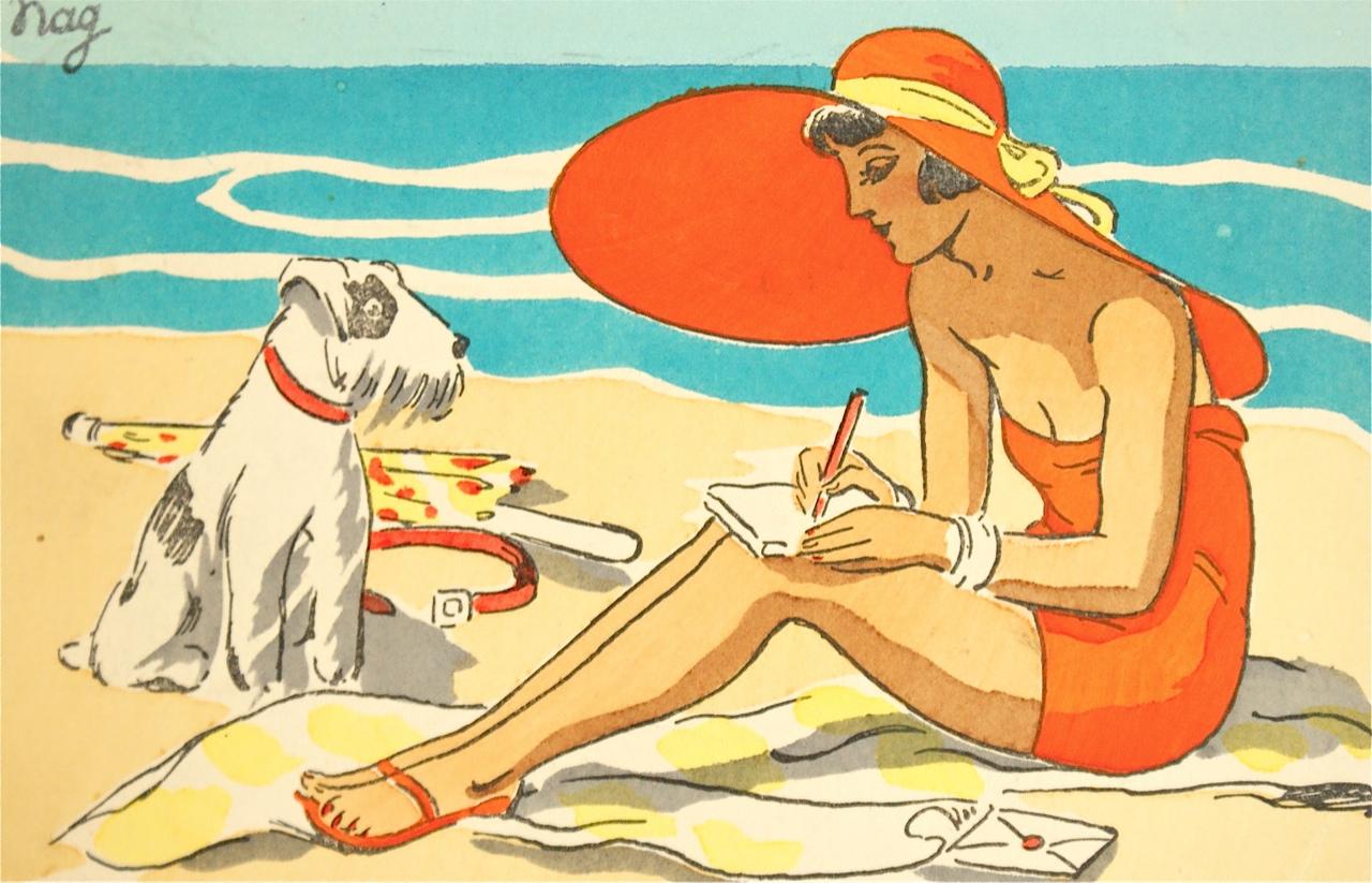 art-deco-french-colour-postcard