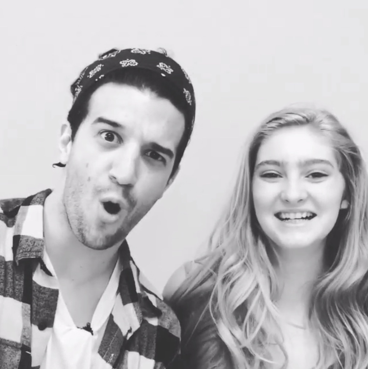 Willow Shields and Mark Ballas on Instagram