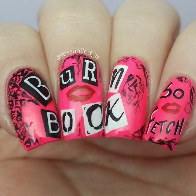 jessnailedit-burn-book-nail-art