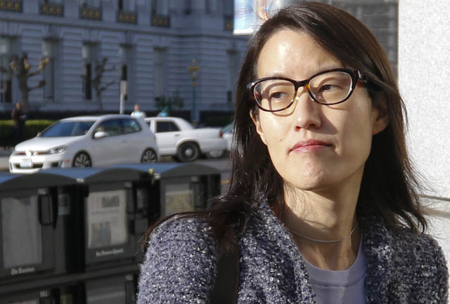 JOHN DOERR AND ELLEN PAO AT COURTHOUSE