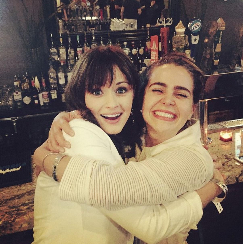 Picture of Lauren Graham's Daughters Hug
