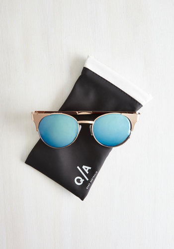 modcloth gold sunglasses blue
