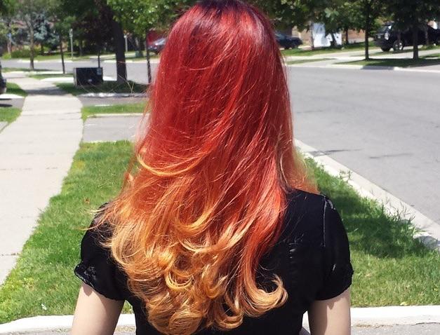 fire hair dye