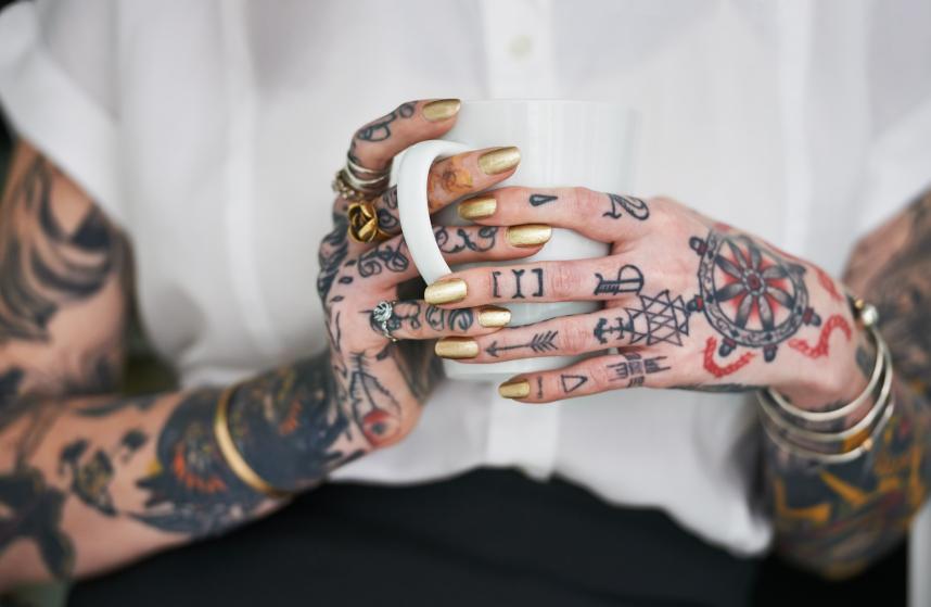 She loves her tattoos