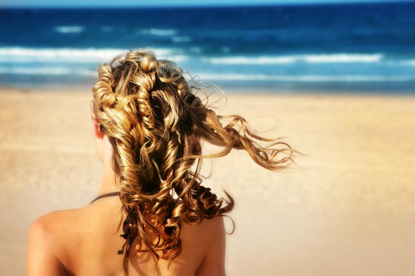 summer beach hair