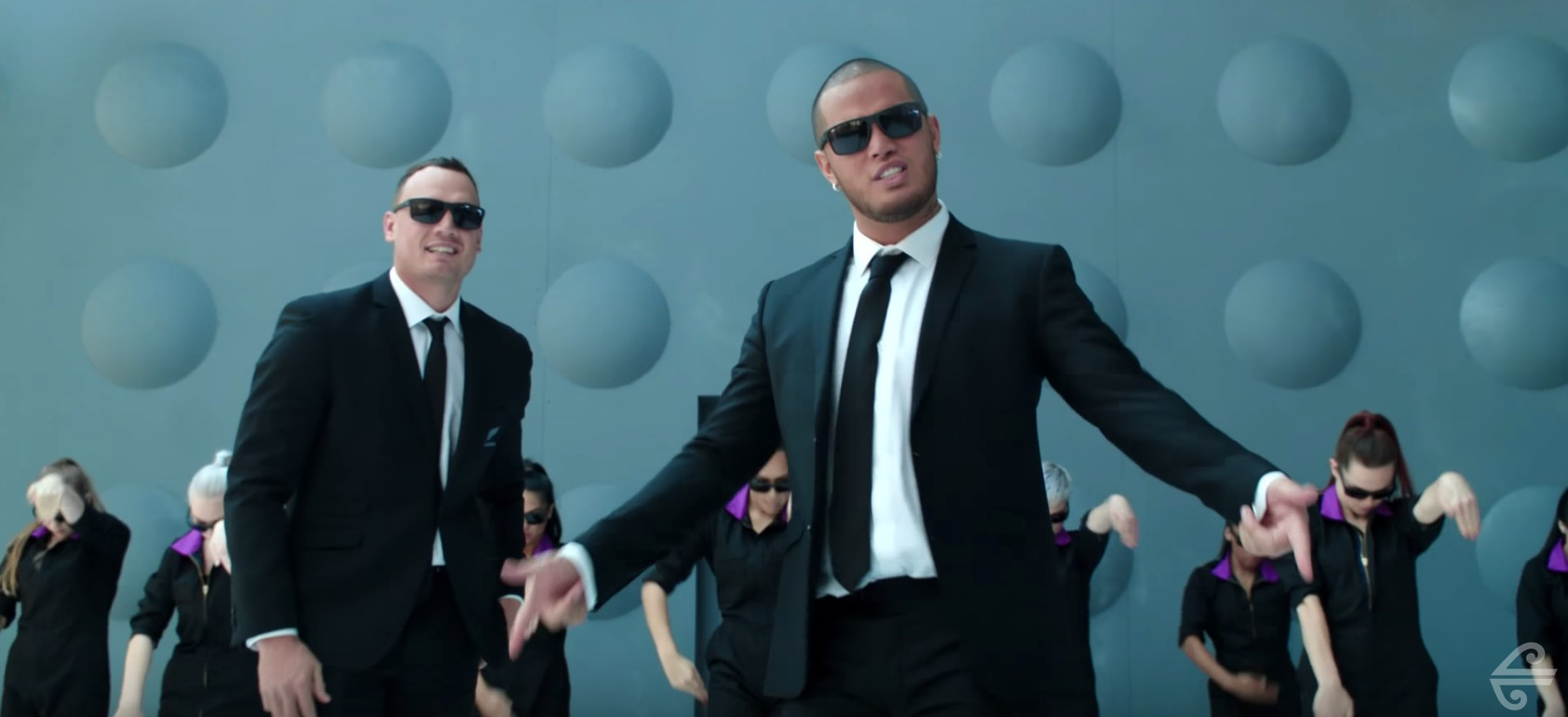 Picture of Air New Zealand Men in Black Safety Video
