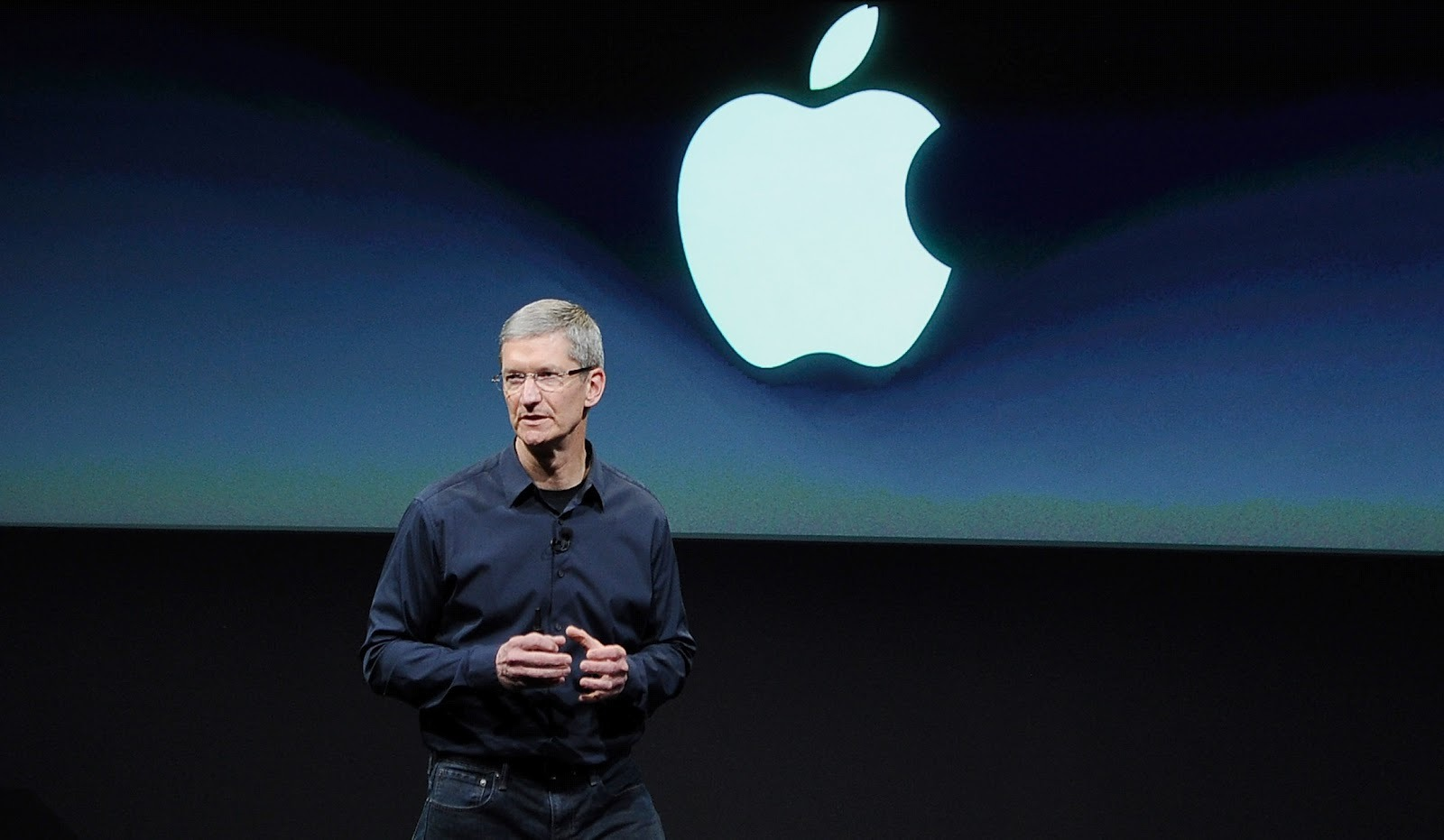 Picture of Tim Cook Apple Keynote