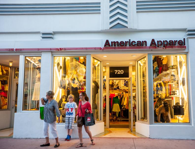 American Apparel Store Entrance, Miami Beach