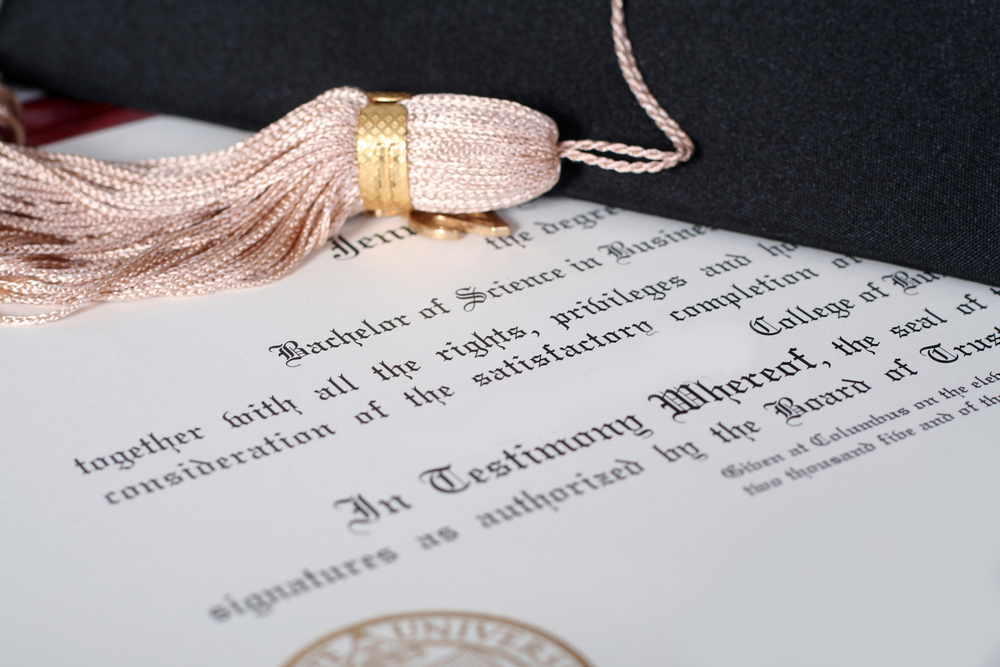 Picture of College Diploma