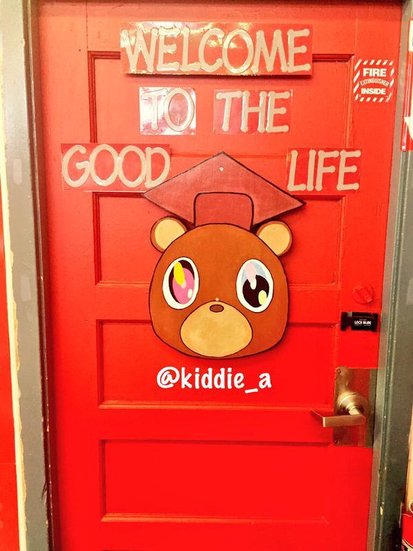 Picture of Kanye West Classroom Door