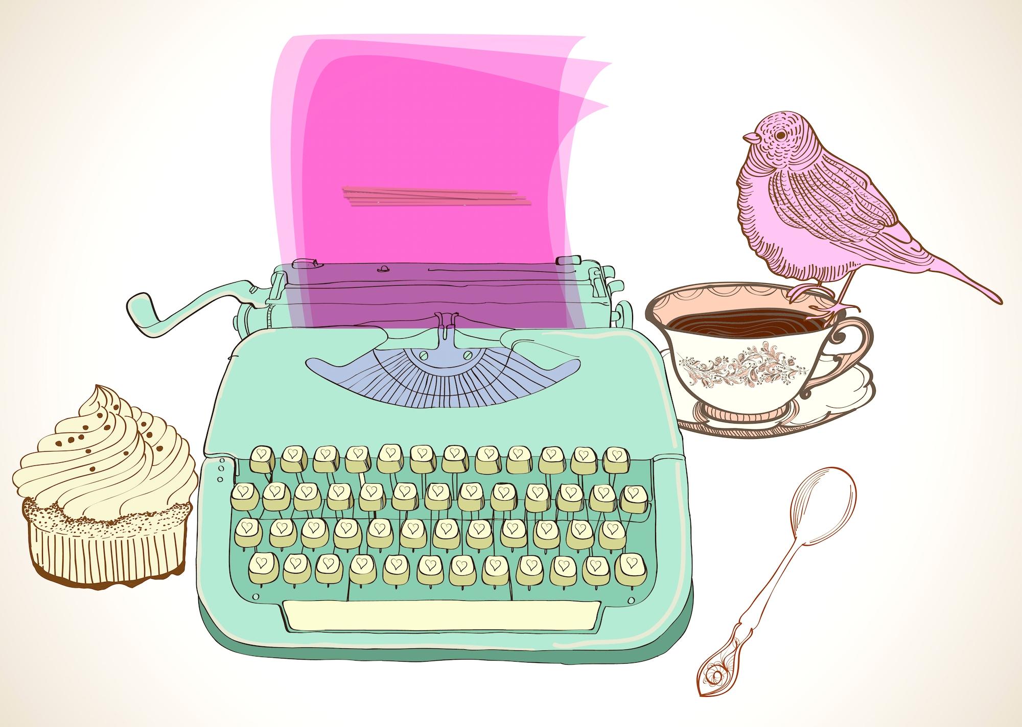 retro typewriter background
