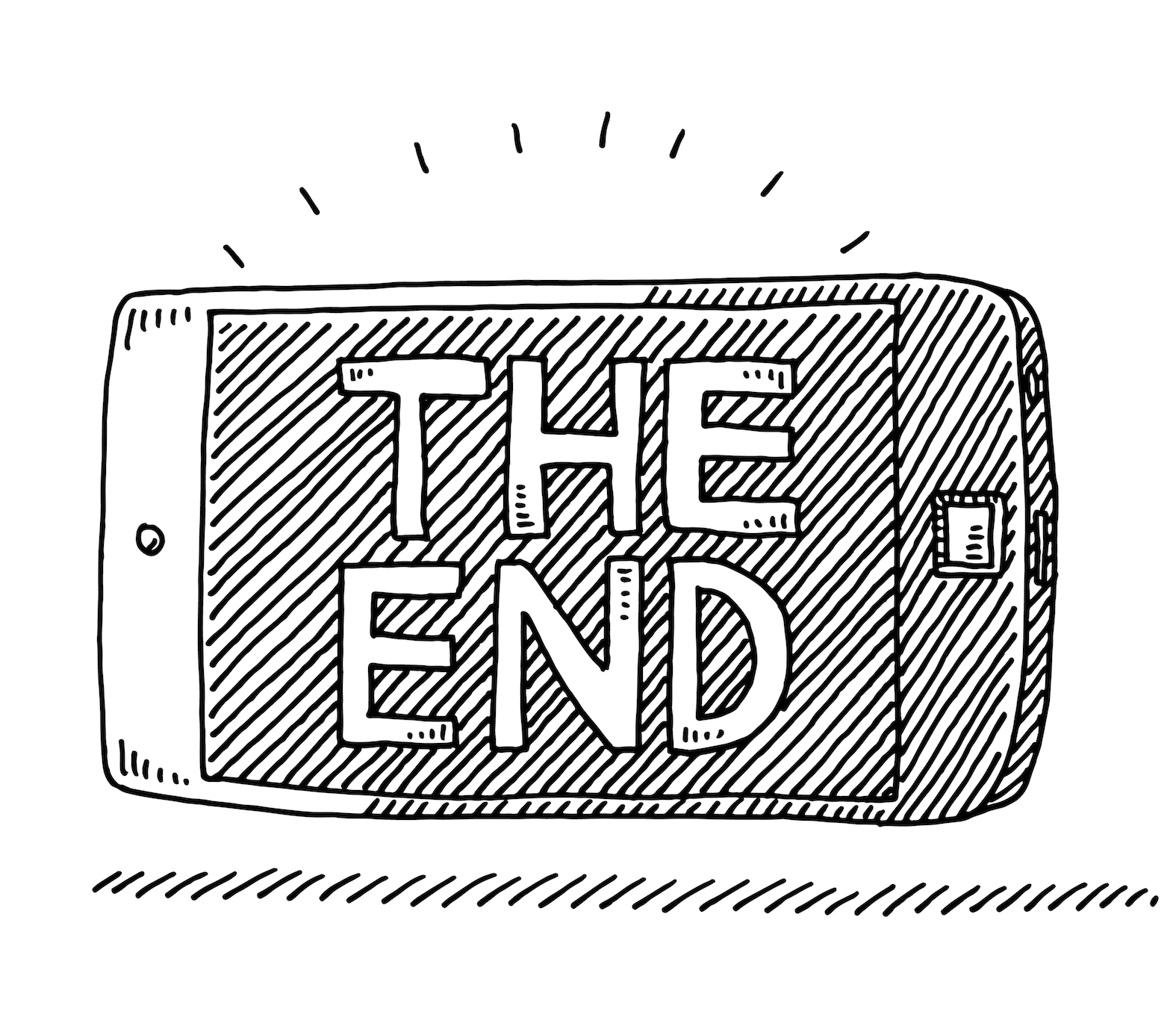 Smart Phone The End Movie Screen Drawing
