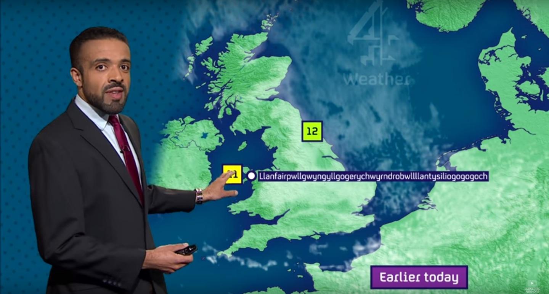 Llanfairpwllgwyngyllgogerychwyrndrobwllllantysiliogogogoch weather man