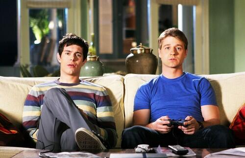 Picture of Seth and Ryan Playing Video Games