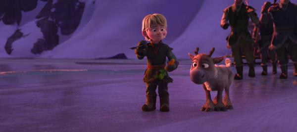 Picture of Young Kristoff and Sven from Frozen
