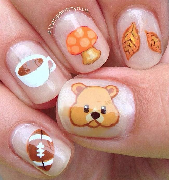 fall-emoji-nail-art