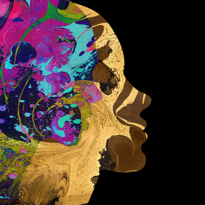Abstract female head