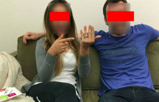 Picture of Couple Facebook Engagement Fail