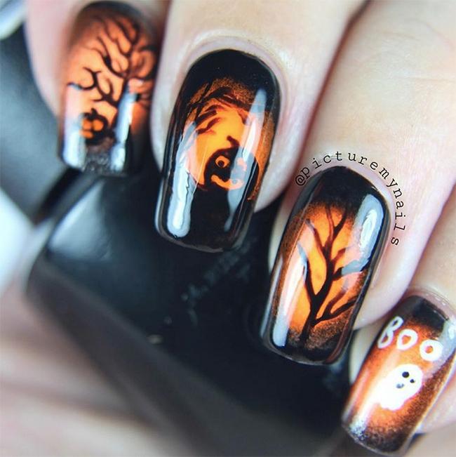 halloween-nightscape-nail-art