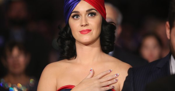 Picture of Katy Perry Hillary Clinton Nails
