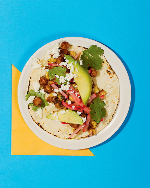 Chickpea Corn Tacos