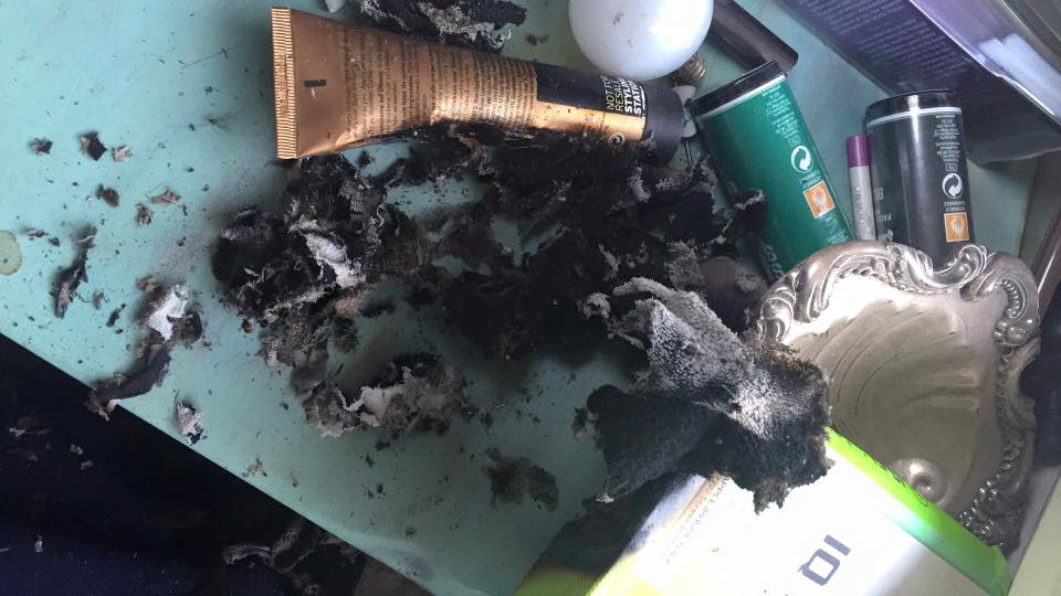 burnt desk
