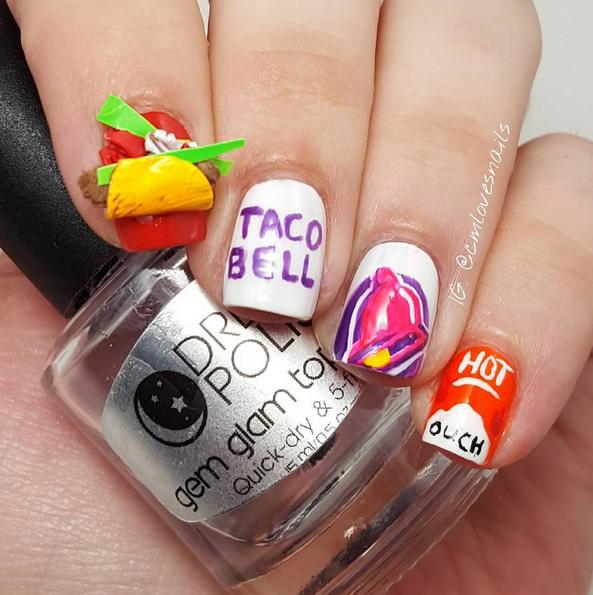 taco-bell-nail-art