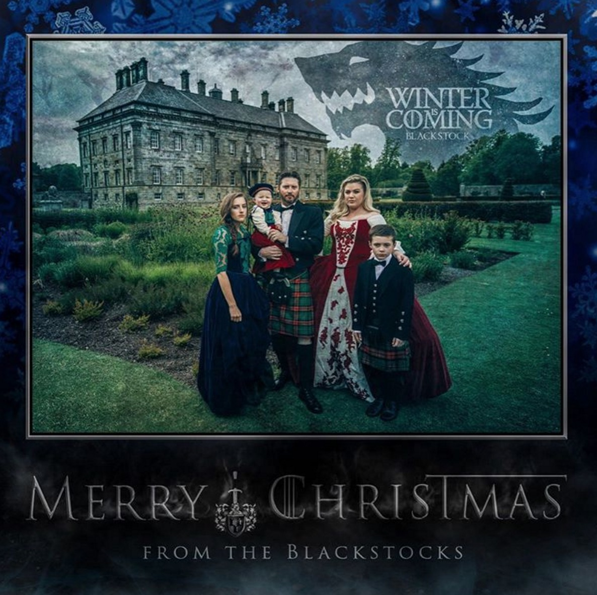 Picture of Kelly Clarkson Game of Thrones Christmas Card