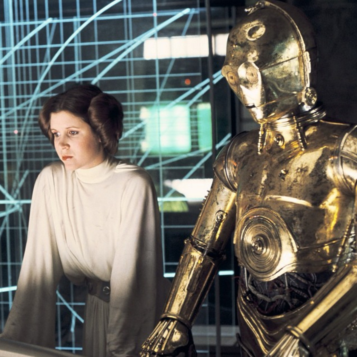 Picture of Princess Leia and C-3PO