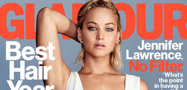Picture of Jennifer Lawrence on the Cover of Glamour Magazine
