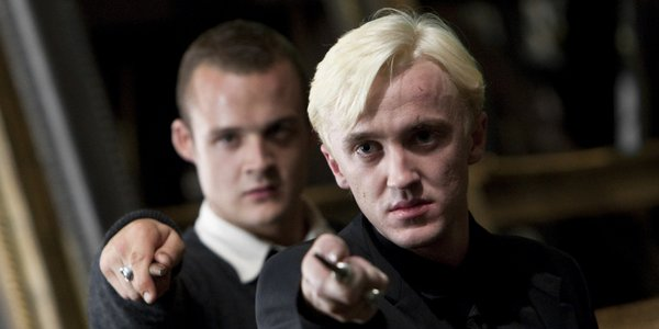 Picture of Draco Malfoy Holding a Wand