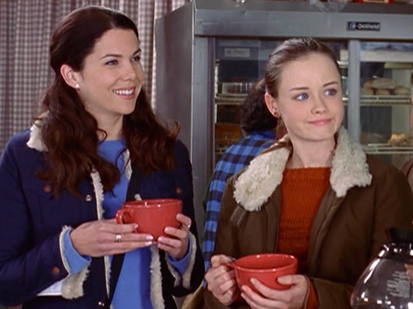 Picture of Lorelai and Rory Drinking Coffee