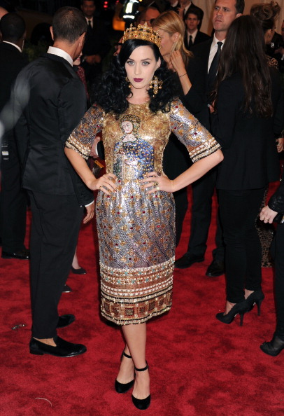 NEW YORK, NY - MAY 06:  Singer Katy Perry attends the Costume Institute Gala for the
